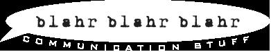 Blahr Blahr Blahr logo